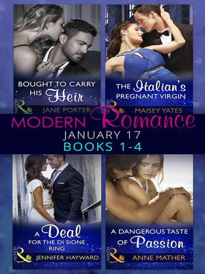 cover image of Modern Romance January 2017 Books 1--4